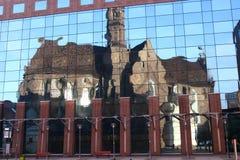 Kirche im Spiegel Lizenzfreies Stockfoto