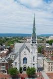 Kirche in im Stadtzentrum gelegenem Harrisburg, Pennsylvania stockbilder
