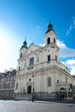 Kirche im Stare Maisto - alte Stadt Warschau stockfotos