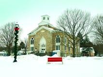 Kirche im Winter Stockfotografie