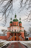 Kirche im Winter Stockfoto