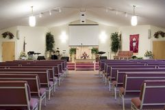 Kirche-Innenraum Lizenzfreie Stockfotos