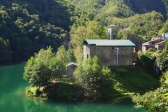 Kirche am isola Sankt, garfagnana, Italien Stockbild