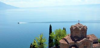 Kirche Jovan Kaneo, Ohrid See Stockfotos