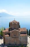 Kirche Jovan Kaneo, Ohrid See Lizenzfreie Stockfotografie