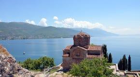 Kirche Jovan Kaneo, Ohrid See Lizenzfreies Stockbild