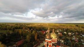 Kirche in Karabanovo stock video