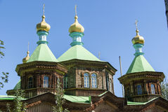 Kirche in Karakol, Kirgisistan Lizenzfreies Stockbild