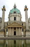 Kirche in KARLSPLATZ in Wien Österreich Lizenzfreies Stockbild