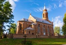 Kirche in Kernave Stockfotos