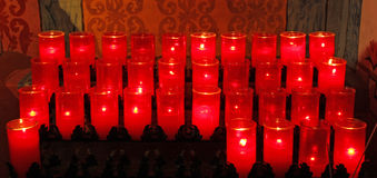 Kirche-Kerzen Lizenzfreies Stockbild