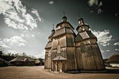 Kirche in Khortytsia-Insel Lizenzfreie Stockbilder