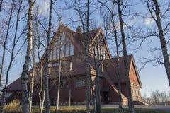 Kirche in Kiruna lizenzfreie stockfotografie