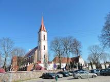 Kirche in Kretinga, Litauen Stockbild