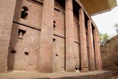 Kirche in Lalibela, Äthiopien lizenzfreies stockfoto