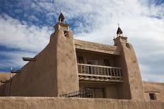 Kirche in Las Trampas, New-Mexiko Stockfotografie