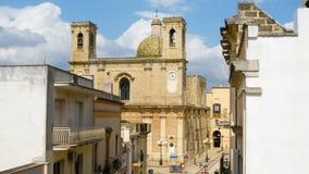 Kirche Lecce Apulien Italien Salento Taurisano Transfigurazion stock footage