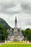 Kirche in Lourdes Stockfoto