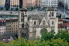 Kirche in Lyon lizenzfreies stockfoto