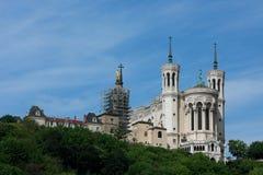 Kirche in Lyon stockbilder