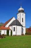 Kirche Mariae Himmelfahrt in Klaffer morgens Hochficht, Österreich Lizenzfreies Stockbild