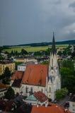 Kirche in Melk, Österreich Stockfotografie