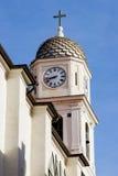 Kirche mit einem Belturm in Sanremo 2 Stockbilder