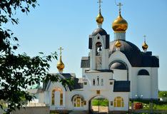 Kirche mit Goldhauben Stockfotografie