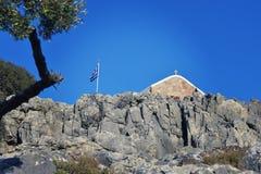 Kirche mit Kreuz Lizenzfreie Stockfotografie