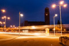 Kirche mit Lichtern Lizenzfreies Stockfoto