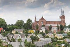 Kirche mit zwei Türmen Lizenzfreie Stockfotos