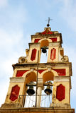 Kirche nah oben in Korfu, Griechenland Stockfotografie