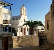 Kirche in Naxos, Griechenland Stockfotos