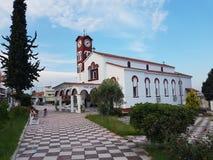 Kirche in Nea Flogita stockfotos