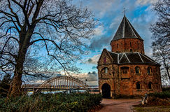Kirche in Nijmegen Stockbild