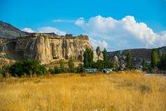 Kirche Nikifor Fokas, Nikeforos Fokas Kilisesi, auch gekennzeichnet als Taube, Guvercinlik, Cavusin-Kirche Der alte Tempel ist stockfotos