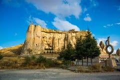 Kirche Nikifor Fokas, Nikeforos Fokas Kilisesi, auch gekennzeichnet als Taube, Guvercinlik, Cavusin-Kirche Der alte Tempel ist lizenzfreie stockfotografie