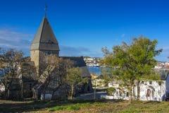 Kirche in Norwegen Stockfotografie