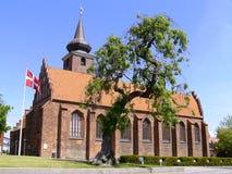 Kirche in Nykøbing Falster Lizenzfreies Stockbild
