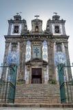 Kirche Oporto Santo Ildefonso Stockfotos