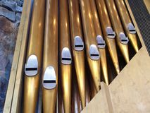 Kirche-Organ-Rohre Lizenzfreies Stockfoto