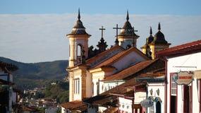 Kirche in Ouro Preto, Brasilien stockbilder