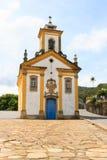 Kirche in Ouro Preto Brasilien lizenzfreies stockbild