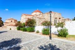 Kirche Panagia Ekatontapyliani, Paros Stockbild