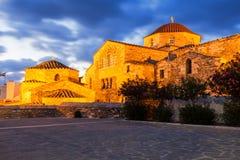 Kirche Panagia Ekatontapyliani, Paros Stockbilder