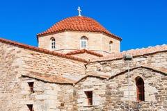 Kirche Panagia Ekatontapyliani, Paros Lizenzfreie Stockbilder