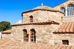 Kirche Panagia Ekatontapyliani, Paros Stockfoto