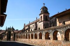 Kirche in Patzcuaro. Stockbild