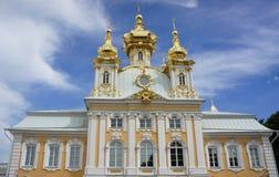 Kirche in Peterhof lizenzfreie stockfotos