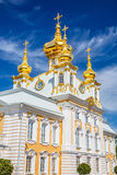 Kirche in Peterhof, St Petersburg Stockfotos